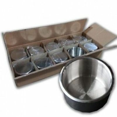 Poker Table Stainless Steel Cups Box Of 10 Jumbo Size