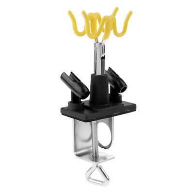 Airbrush Holder Clamp On Table Desk Station Stand for 4pcs Air Brush Paint