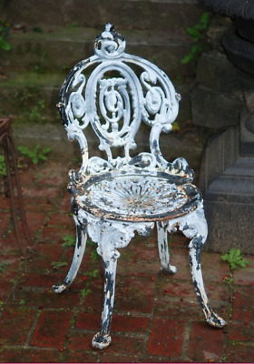 Antique Assembled Set of Cast Iron Garden Chairs