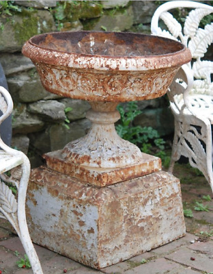 Antique American Cast Iron Garden Urn, circa 1890