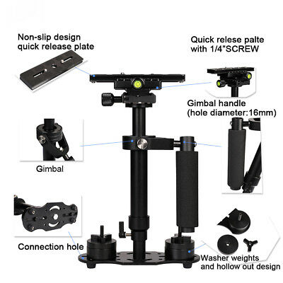 "New S60 Handheld Steadicam/Camera Stabilizer 24""/60cm W/ Quick Release Plate US"