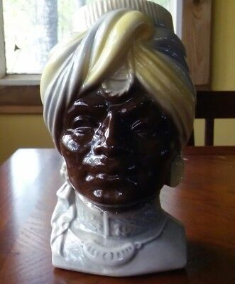 Royal Copley BLACKMOOR Turban Head Vase Wall Pocket Planter Negro Ceramic