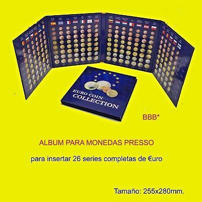 Album €uro Coin Collection, para insertar 26 series completas de monedas de €uro