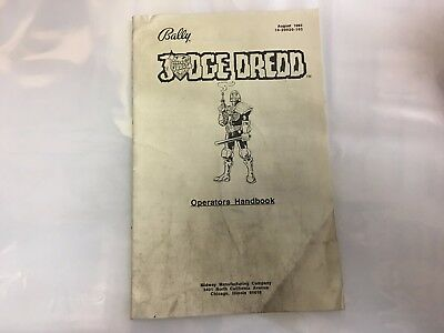 Judge Dredd Pinball Machine Operator's Handbook Manual