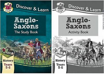 Ks2 History Anglo Saxons By Cgp Brand New Study & Activity Book In One Bundle