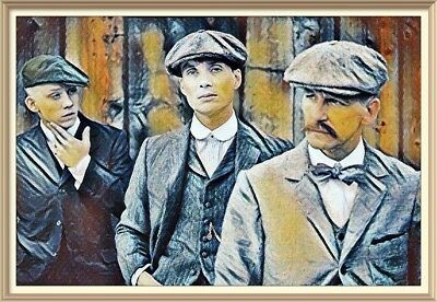 Quality canvas wall art ready to hang PEAKY BLINDERS Birmingham Gangsters