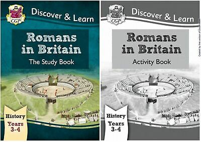 Ks2 History Romans In Britain By Cgp Brand New Study & Activity Books One Bundle