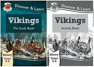 Ks2 History Vikings By Cgp Brand New Study & Activity Books 2 Book Bundle