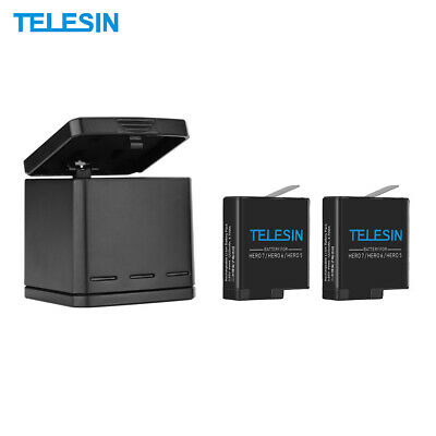 Telesin  Battery Storage Charging Box+2*battery For Gopro Hero 5/6/7 Black G1Q3