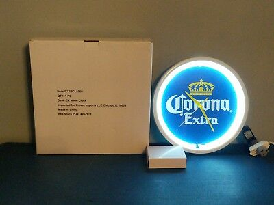 (L@@K) Corona Beer Neon Light Up Clock Brand NEW IN BOX Game Room Man Cave
