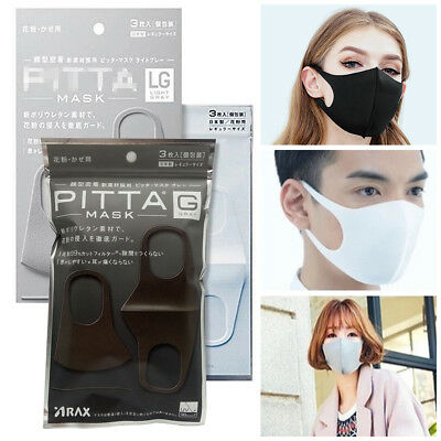 3Pcs Washable Earloop Mask PM2.5 Anti Dust Mouth Face Mask Surgical Respirator