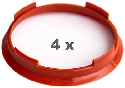 4x Centering Ring 70.4 mm on 66.1 mm Red/Red