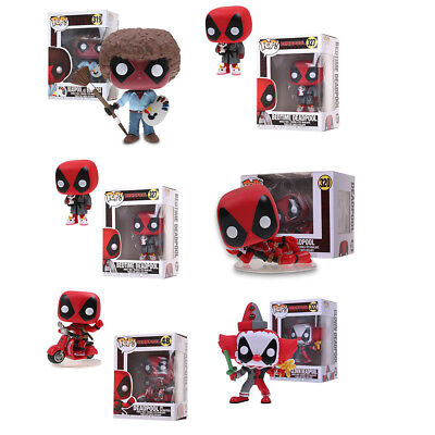 Funko pop Playtime Deadpool as Bob Ross Action Figure Collection Toy Gift in Box
