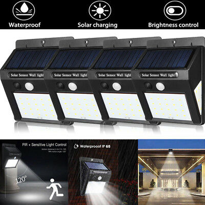 30LED Solar Power Light PIR Motion Sensor Garden Outdoor Yard Wall Security Lamp