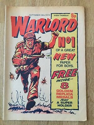 Warlord Comic. Number 1.  28/9/74.