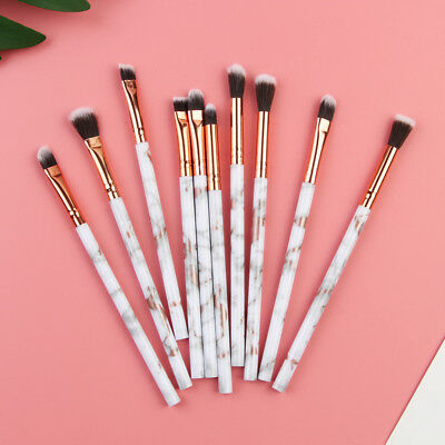 10PCS Multifunctional Brushes Marble Make Up Brush Concealer Eyeshadow Brush