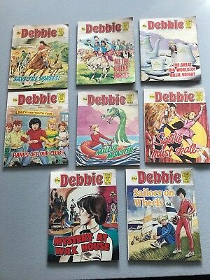 Debbie Magazines X 8 Joblot Picture Story Library For Girls 1981-84 No 43-81