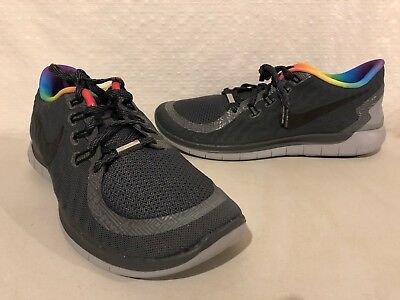 e8e437418321 2015 Nike Free 5.0 Bt  betrue Sneakers Mens 10 11 New Gray Rainbow 745381  001