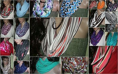 CHOOSE your Infinity SCARF High End Scarves handmade in USA Knits Peachskin