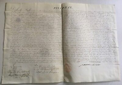 LAC VERY RARE PAPAL BULLA Parchment Vellum 1848 AN III in name of Pope PIUS IX