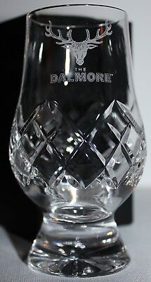 Dalmore Logo Glencairn Cut Crystal Scotch Malt Whisky Tasting Glass