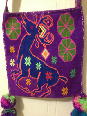 Unique Huichol bag/morral from Mexico