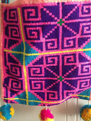 Embroidered Huichol bag/morral from Mexico