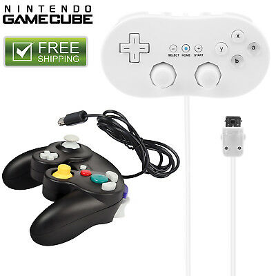 Wired Classic Controller Gamepad for Nintendo Wii Remote Console Video Game USA