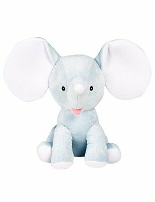 Personalised Embroidered Pale Blue Dumble Elephant, Teddy, New baby, Cubbies