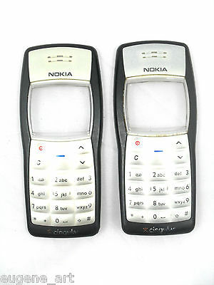 2 Lot Nokia 1100 Front Housing Keypad Faceplate Fascia Cover Caller ID Original