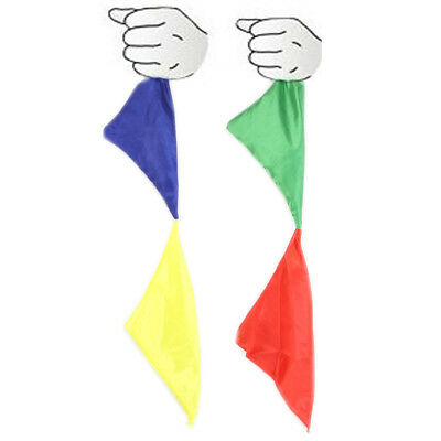 Stage Close Up Magic Trick Props Color Changing Silk Hanky Diagonal Street Magic