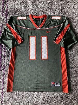 62d719dbd Nike NCAA University Of Miami Hurricanes  11 Football Jersey Mens Medium