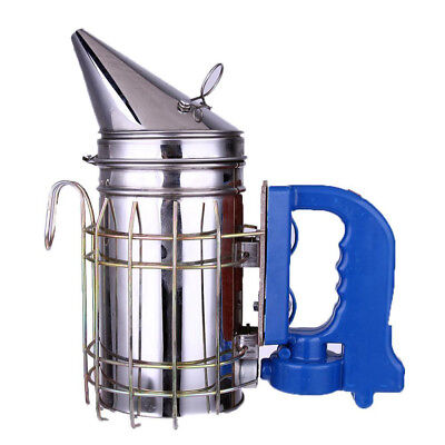 Stainless Steel Smoke Transmitter Electric Bee Hive Smoker USB Charge Durable