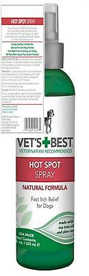 Vet's Best Dog Hot Spot Itch Relief Spray | Soothes Dry Skin, Itchy and...