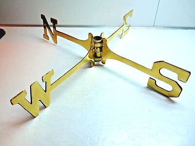 Vintage Brass North South East West Weathervane Directionals Letters Nice