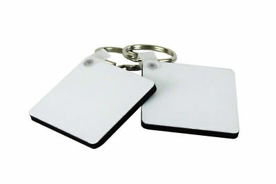 MDF Square Double Sided Shape Keyring for personalised Printing Sublimation