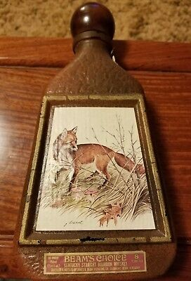 Vintage 1978 Jim Beam Bottle Decanter Beam's Choice Red Fox by James Lockhart