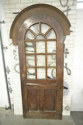 Antique Round Top Arched Door w/ moldings Doctors Office Door