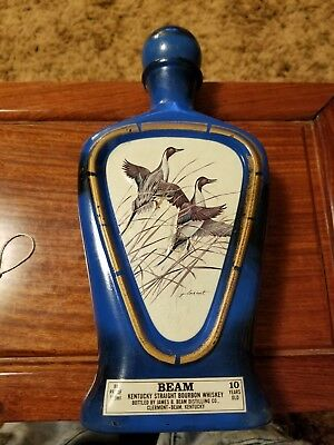 Vintage 1978 Jim Beam Bottle Decanter Beam's Choice Mallard Ducks James Lockhart