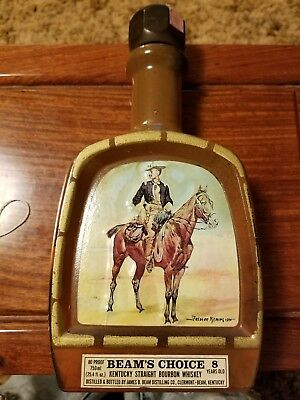 Vintage 1979 Jim Beam Bottle Decanter Beam's Choice Frederic Remington
