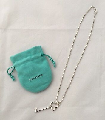 91a3b7dc1 TIFFANY & CO Trefoil Key Necklace Sterling Silver - $175.00 | PicClick