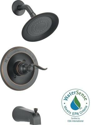 Tub And Shower Faucet Trim Kit 1-Handle Oil Rubbed Bronze (Valve Not Included)