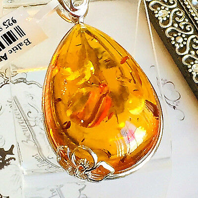 Genuine Russian Baltic Amber Necklace Vintage Butterscotch Egg Yolk Polish 老琥珀