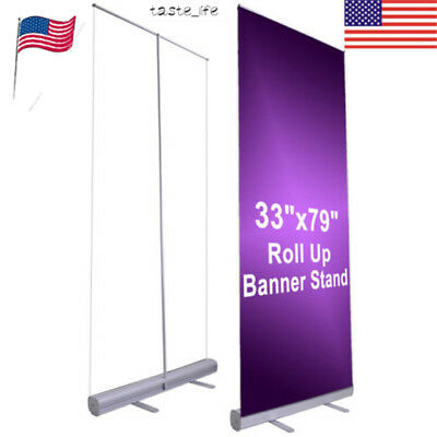 "Collect 33""x 79""Exhibition Display Retractable Show Poster Supplies Banner Stand"