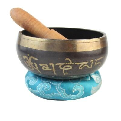 Beautiful hand hammered Tibetan Meditation Yoga Temple Bell Singing Bowl set New