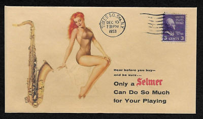 1954 Selmer Mark VI Mark 6 Tenor Ad Featured on Collector's Envelope *op367