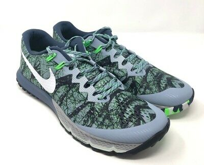 57fe30d655857 Nike Air Zoom Terra Kiger 4 Mens Trail Running Forest Camo 880563 400 Size  13