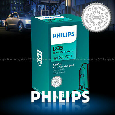 6ce36441c75 NEW! PHILIPS D3S X-TREME VISION 4800K +150% HID BULBS 42403XV2C1 35W ...