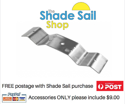 Corrugated Rafter Bracket 316 Stainless steel Shade sail INCLUDES M10 eyebolt