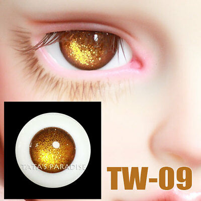 TATA glass eyes TW-09 14mm/16mm for BJD SD MSD 1/3 1/4 size doll use golden